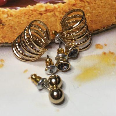 обеци със златно покритие